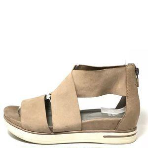Eileen Fisher Sport Tonal Suede Wedge Sandals